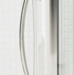 A photo of Lakes Bathrooms' bow fronted slider shower door product detail