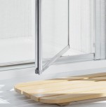 A photo showing Lakes Bathrooms' Framed pivot shower door product detail