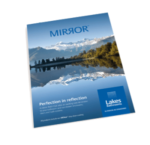 An image of the Lakes Bathrooms Mirror Collection Brochure front cover