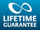"An image saying ""Lakes Bathrooms' Lifetime Guarantee"""