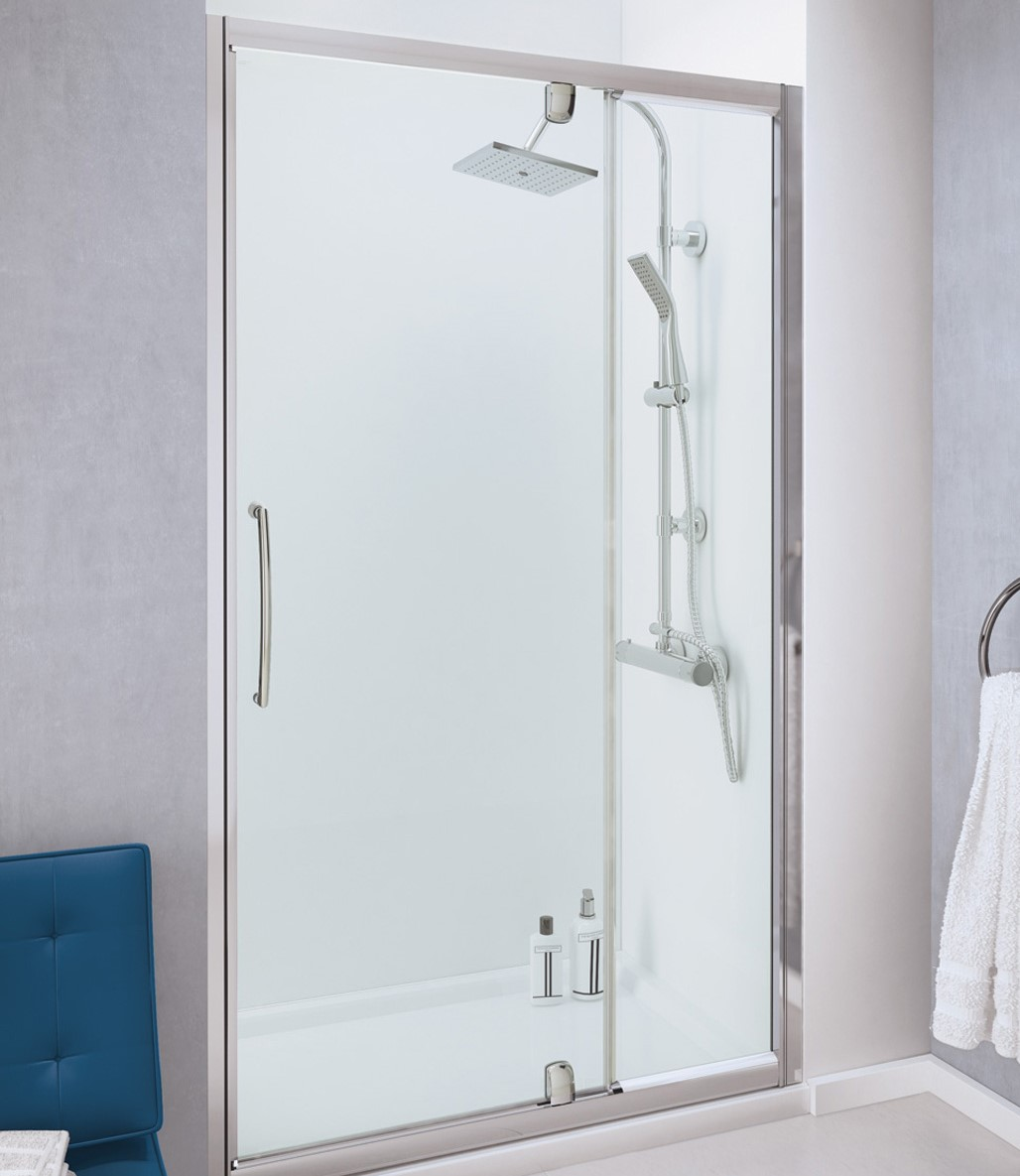 Lakes Bathrooms Launches Pivot Door With Integrated In Line Panel