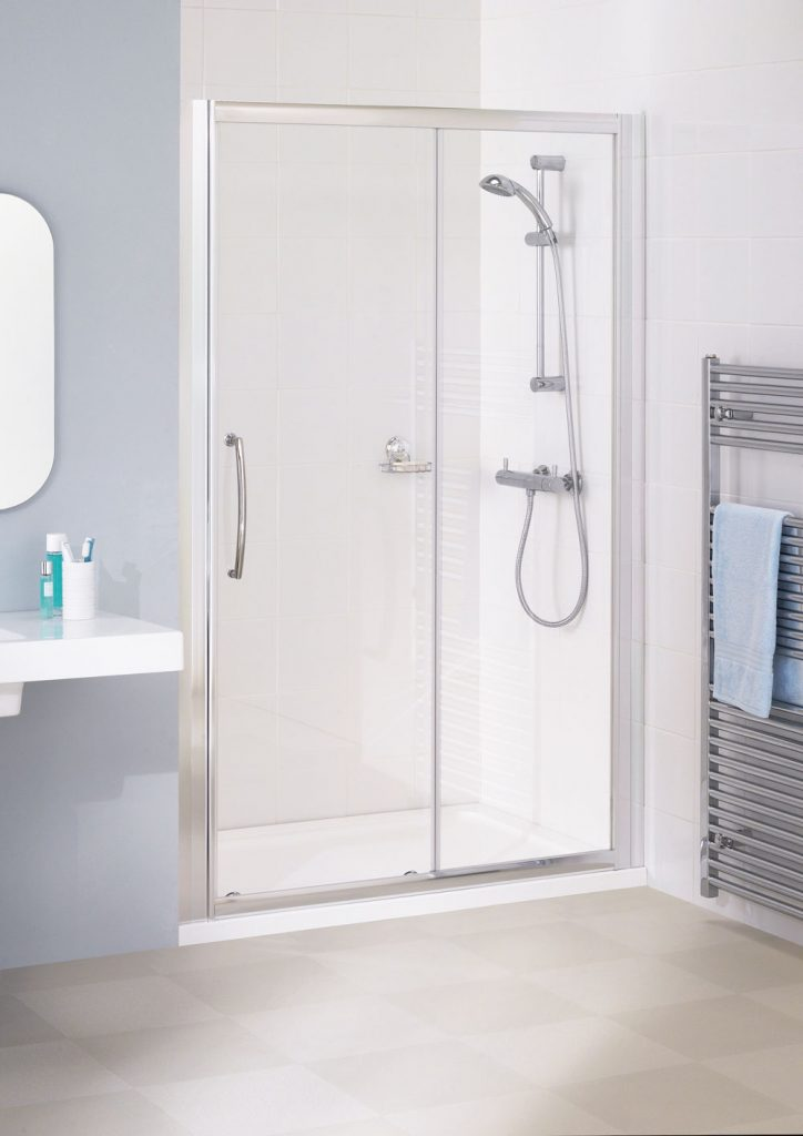 Lakes Bathrooms semi framed slider shower door