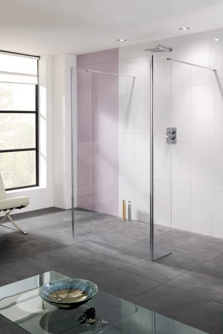 frameless Riviera wet room Panel