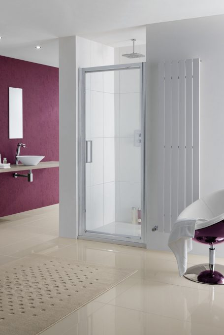 Semi-Frameless Narva Pivot Door shower enclosure
