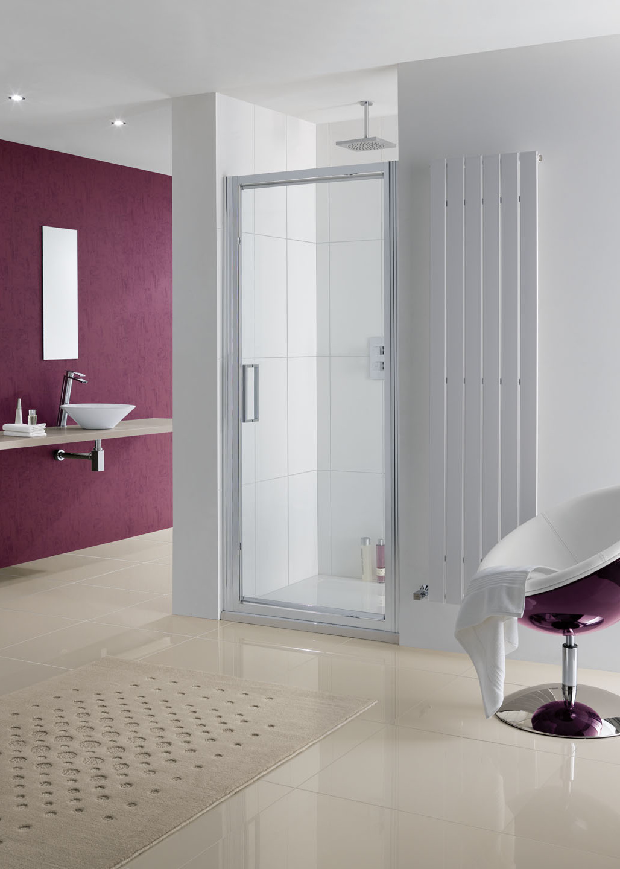 Semi-Frameless Narva Pivot Door shower enclosure