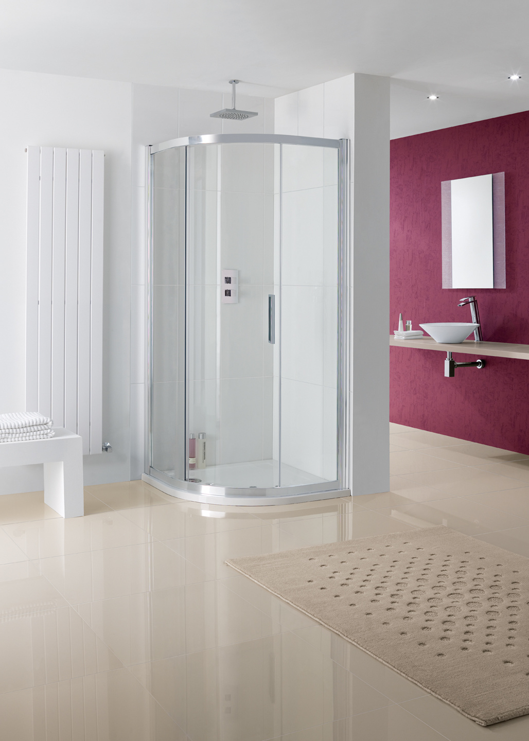 Sorong Offset Quadrant semi-frameless shower enclosure