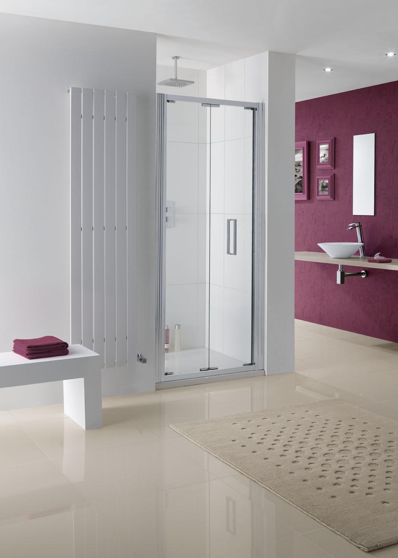 Semi-Frameless Bergen Bi-Fold Shower Door