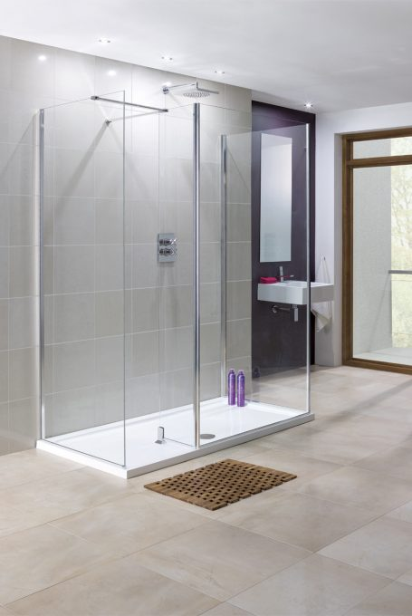 frameless Rhodes walk-in shower enclosure