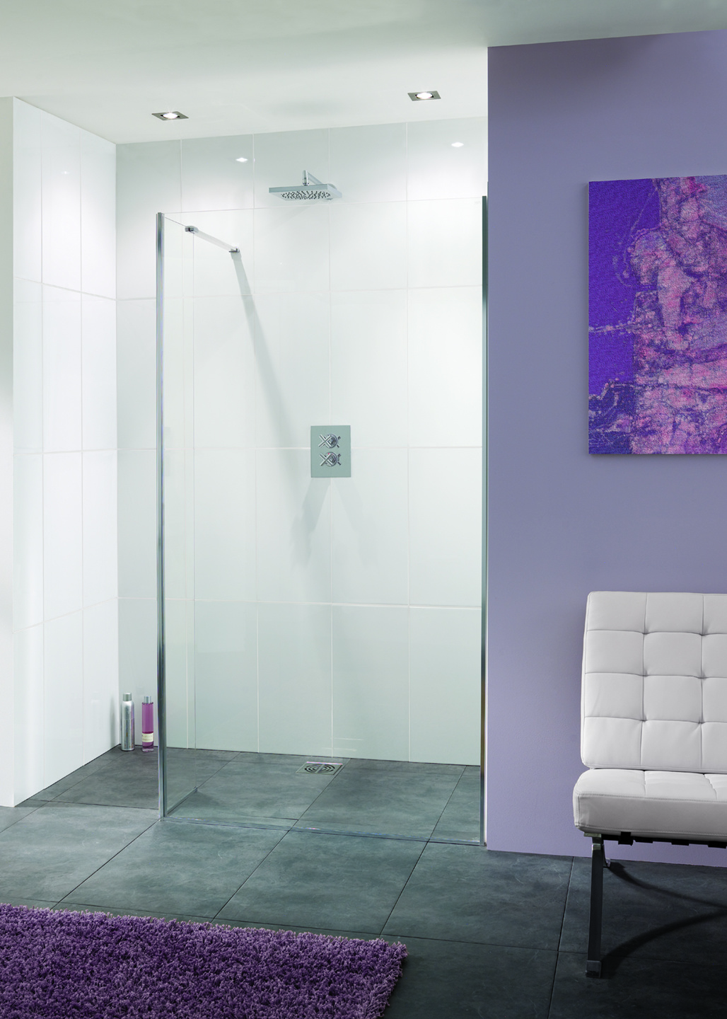 Frameless Nice 10mm Walk-In Shower Enclosure