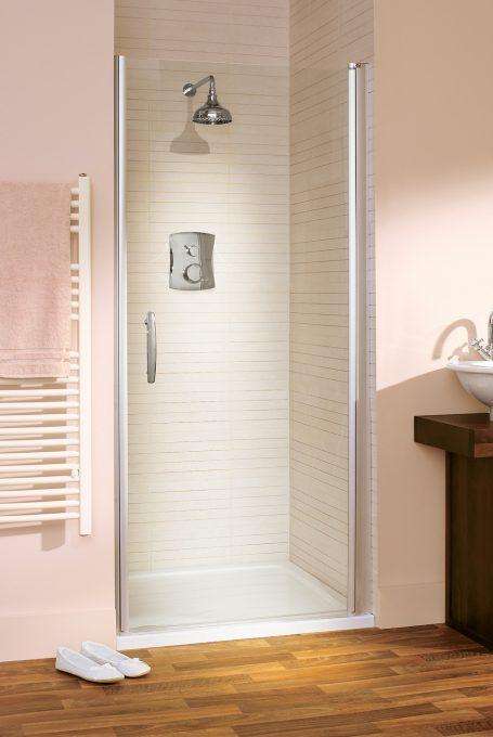 affini semi-frameless shower pivot door