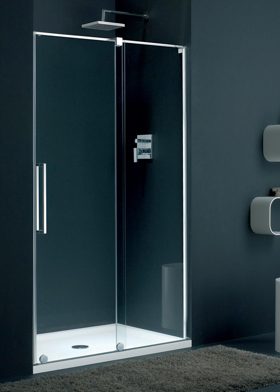 Frameless Barletta alcove shower enclosure