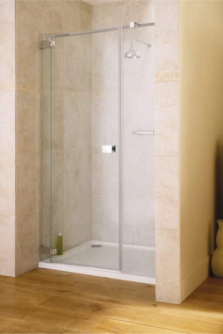 Frameless Caldoro alcove shower enclosure