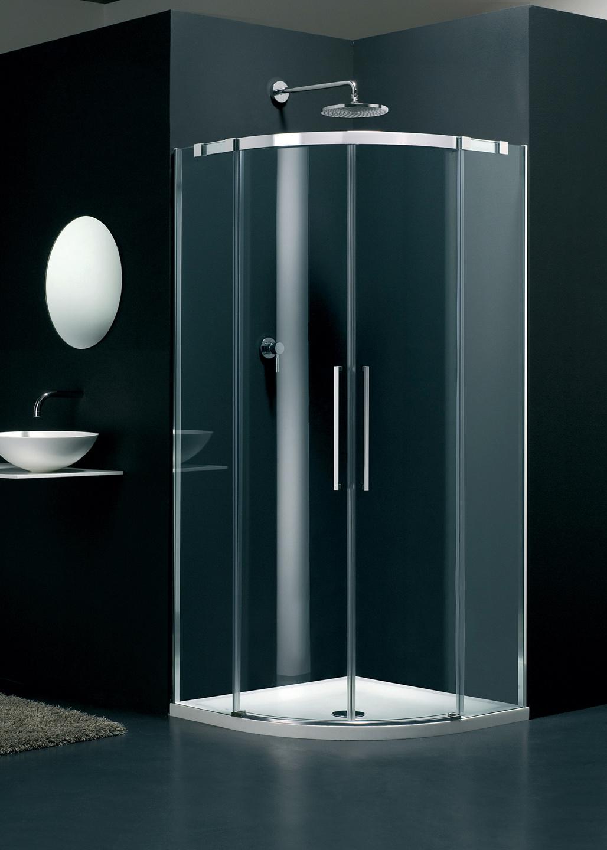 frameless Carini curved shower enclosure