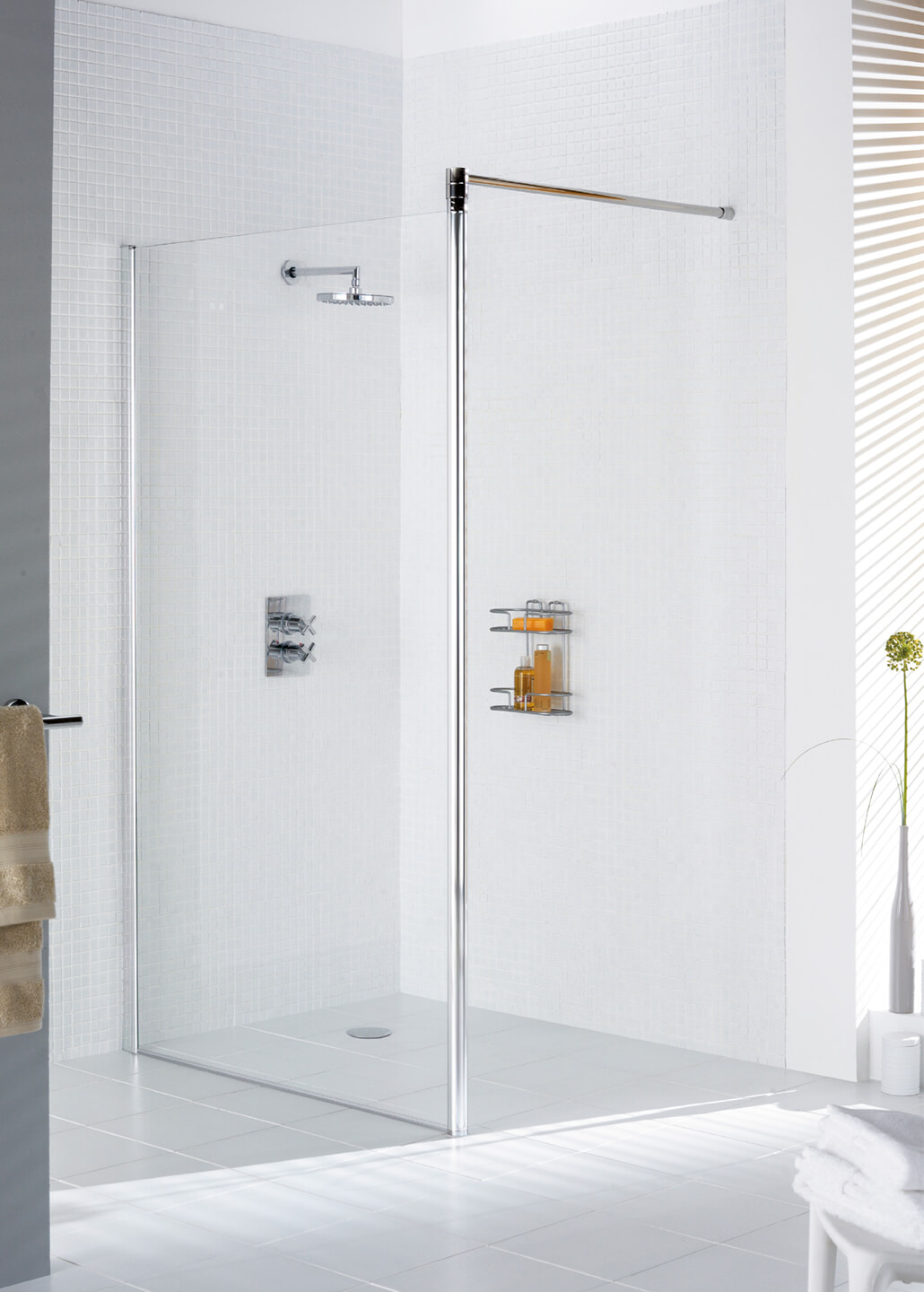 simply lustwithalaugh door frameless stationary installation of shower image semi design