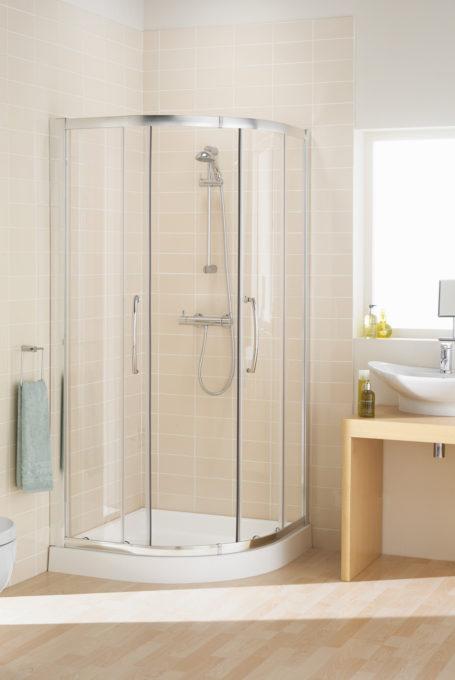 Double Door Offset Quadrant Shower Enclosure