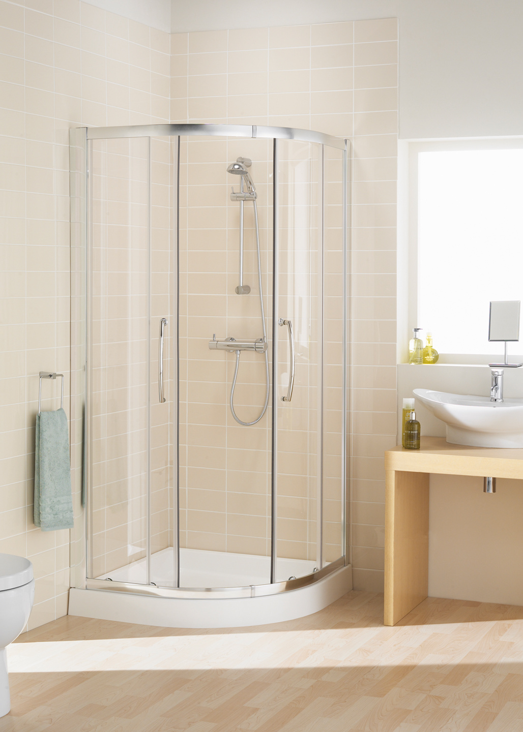 Double Door Offset Quadrant Shower Enclosure