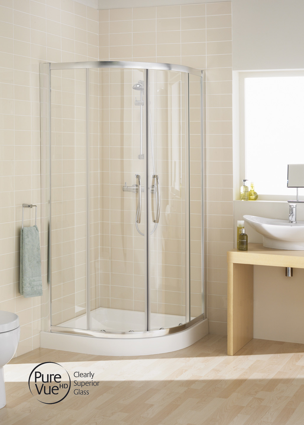 Easy fit quadrant semi frameless shower enclosures for Door quadrant