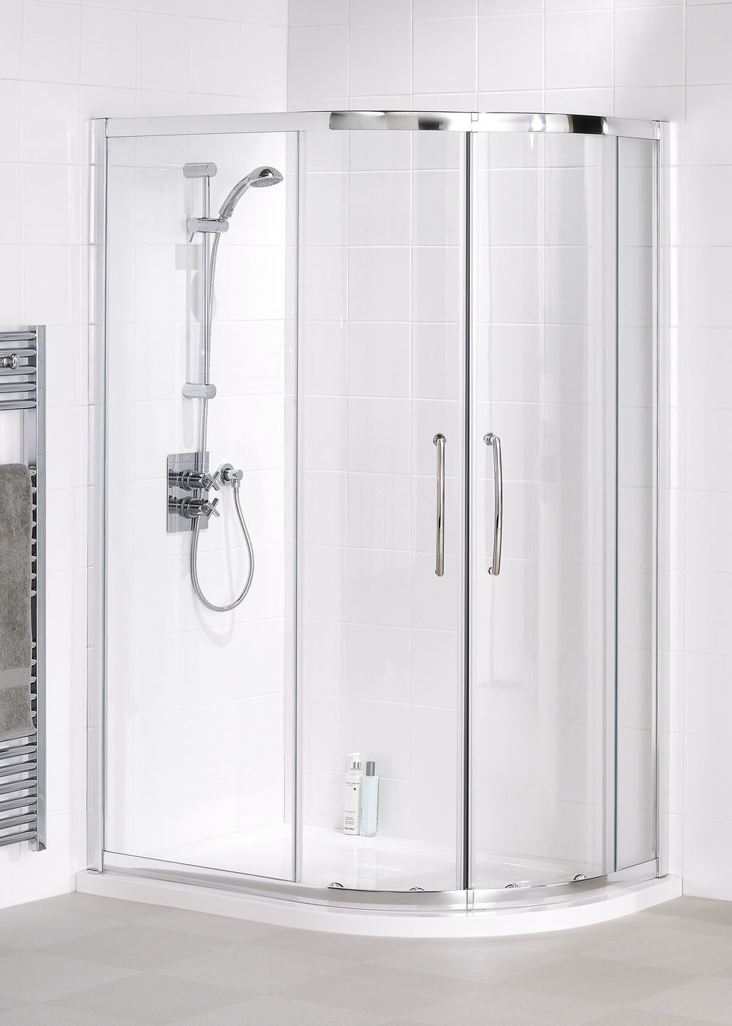 Easy-fit Quadrant - Semi-Frameless Shower Enclosures