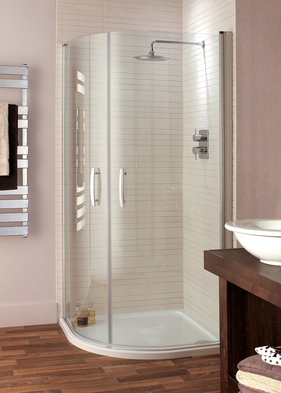 Lavello Semi Frameless Quadrant Shower Enclosure with Pivot doors