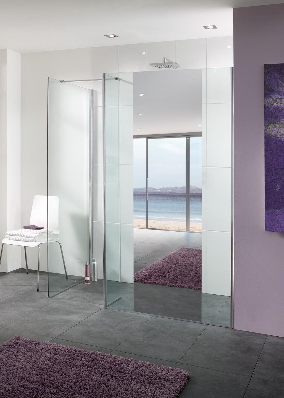 Mirror: Palma Frameless Walk In Shower Enclosure