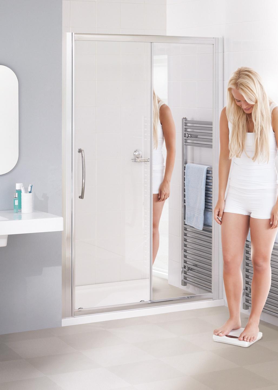 Mirror: Semi-Frameless Slider Door