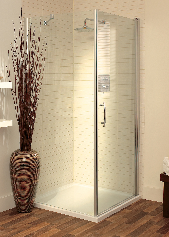 Romano semi-frameless corner shower enclosure