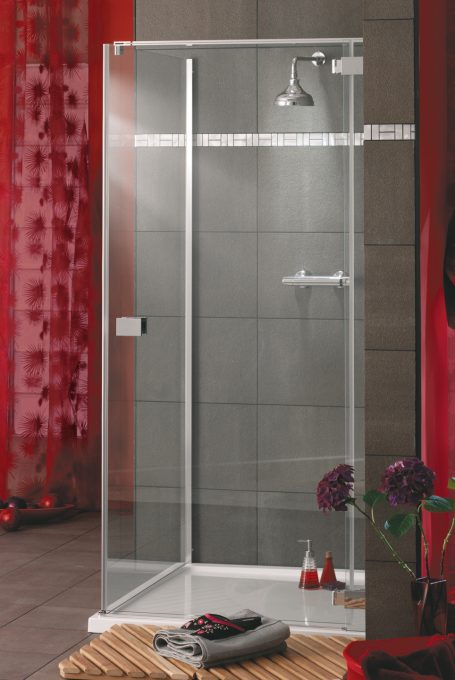 Rosso frameless hinged doors shower enclosure