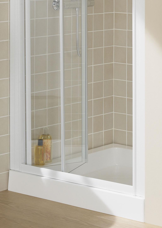 Semi Frameless Bi Fold Door Shower Enclosures Lakes