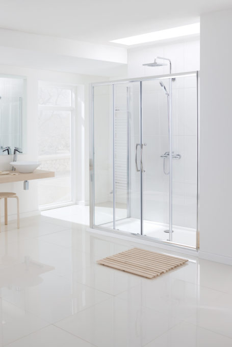 Semi-Frameless Double Slide Door shower enclosure