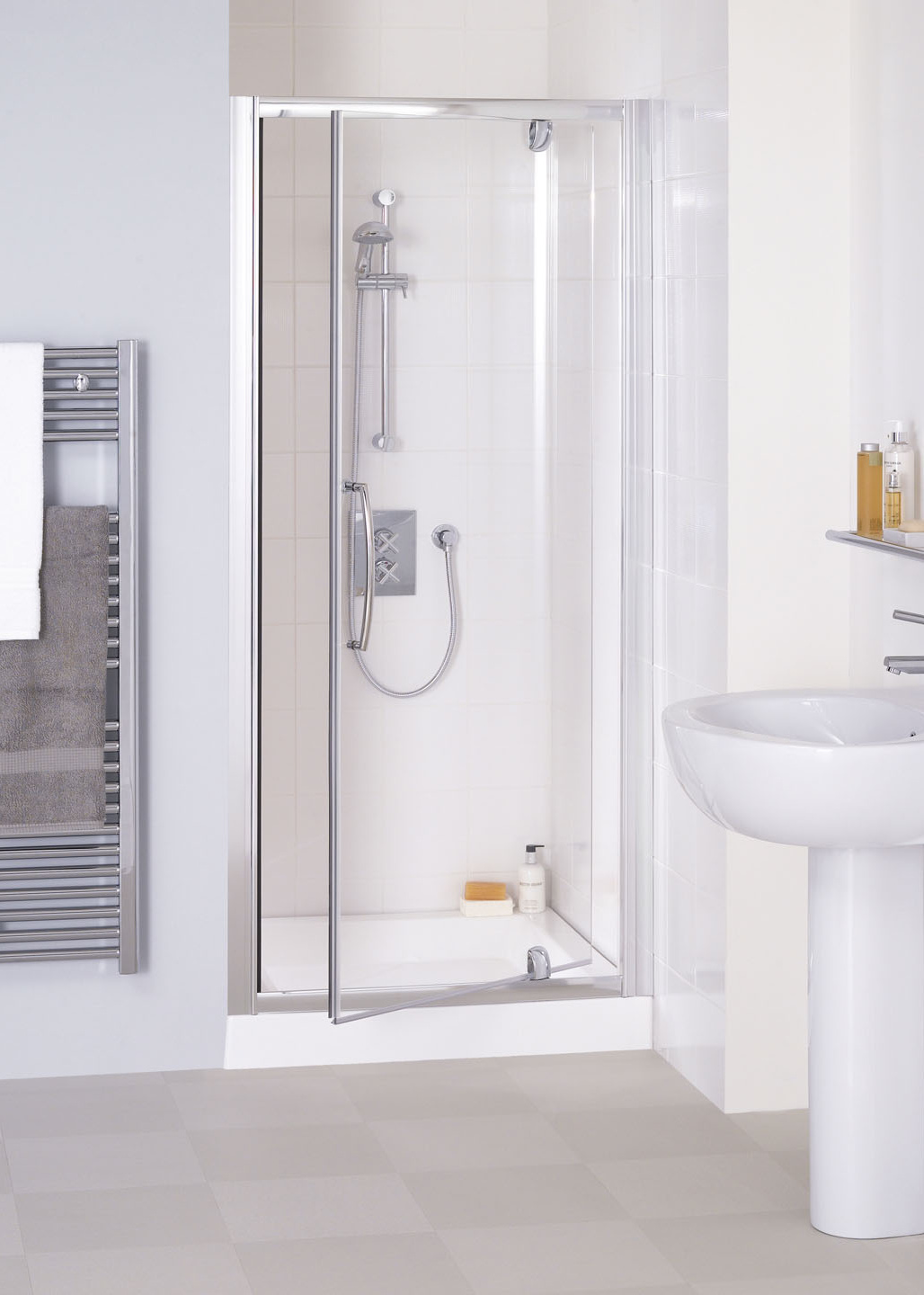 Semi-Frameless Pivot Shower Door - Shower Doors