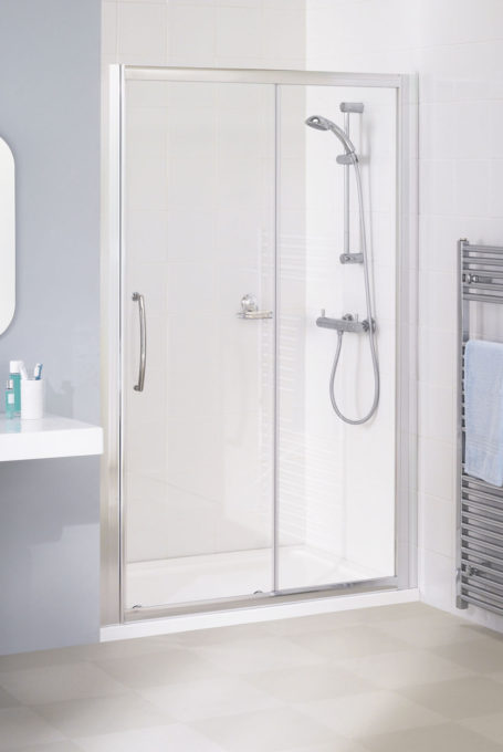 Semi-Frameless Slider Door Shower Enclosure
