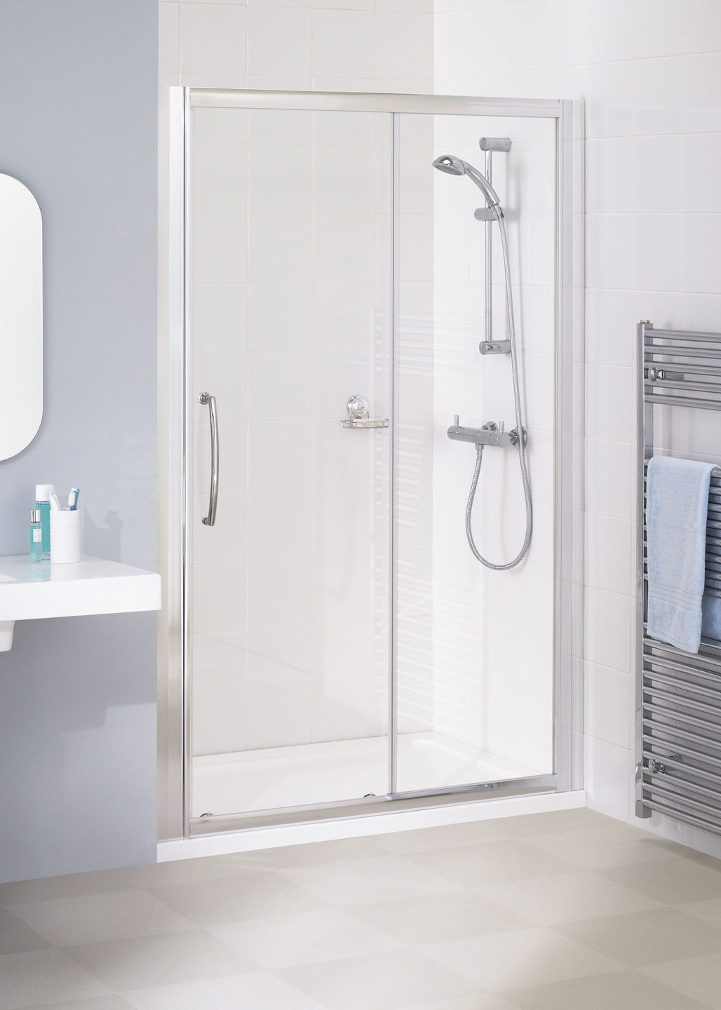 Semi Frameless Slider Door Shower Enclosures Lakes