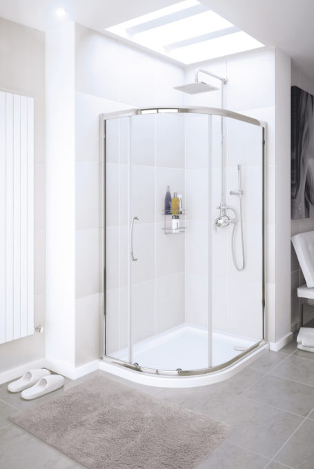 Single Door Offset Quadrant shower enclosure