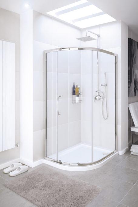 Single Door Offset Quadrant shower enclosure