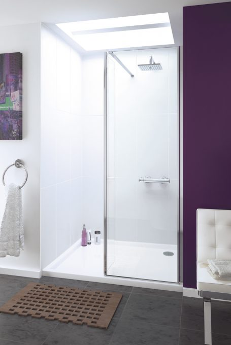 Levanzo frameless walk-in shower enclosure