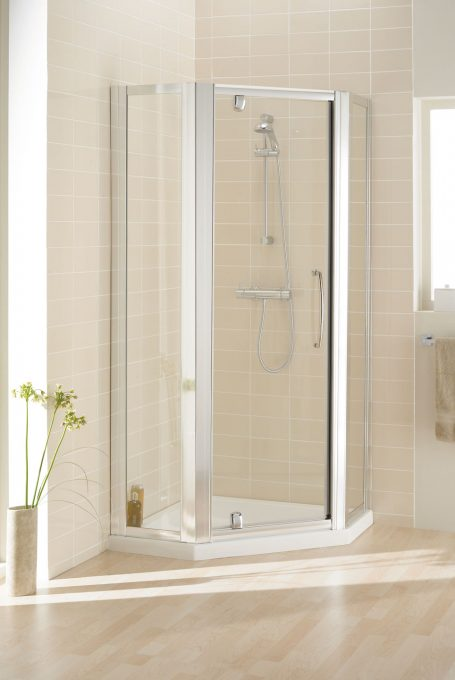Semi-Frameless Pentagon shower enclosure