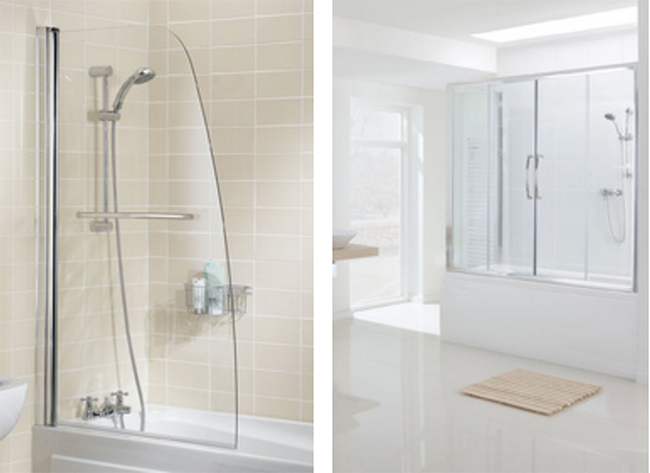 Over Bath Shower Screens - Lakes Bathrooms