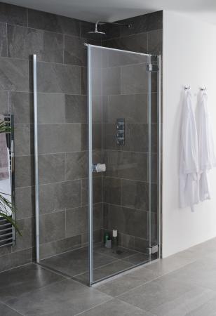Grenada frameless shower enclosure door and side panel image