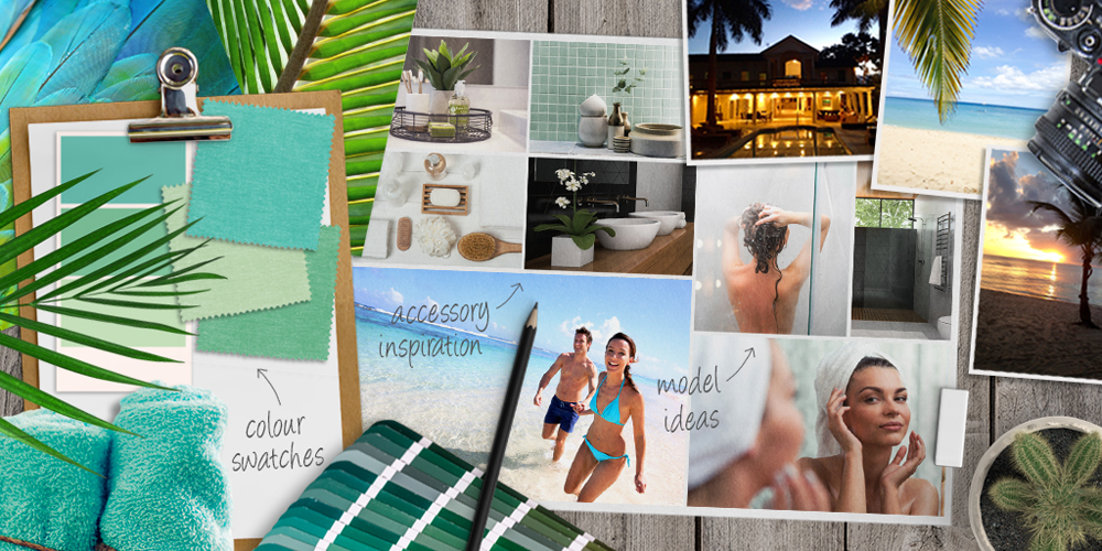 the Island Collection mood board for inspiration