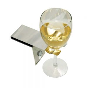 wine glass holder for the bath