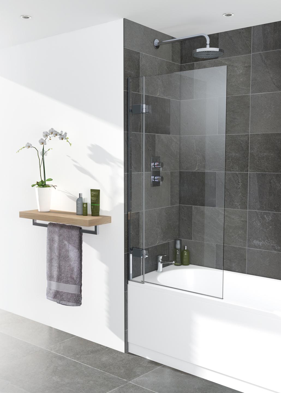 Frameless bath screen