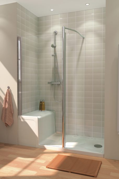 Seated Shower and Walk in enclosure