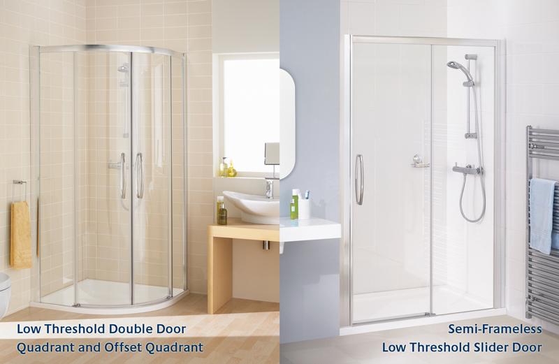 Low-threshold-shower-enclosures