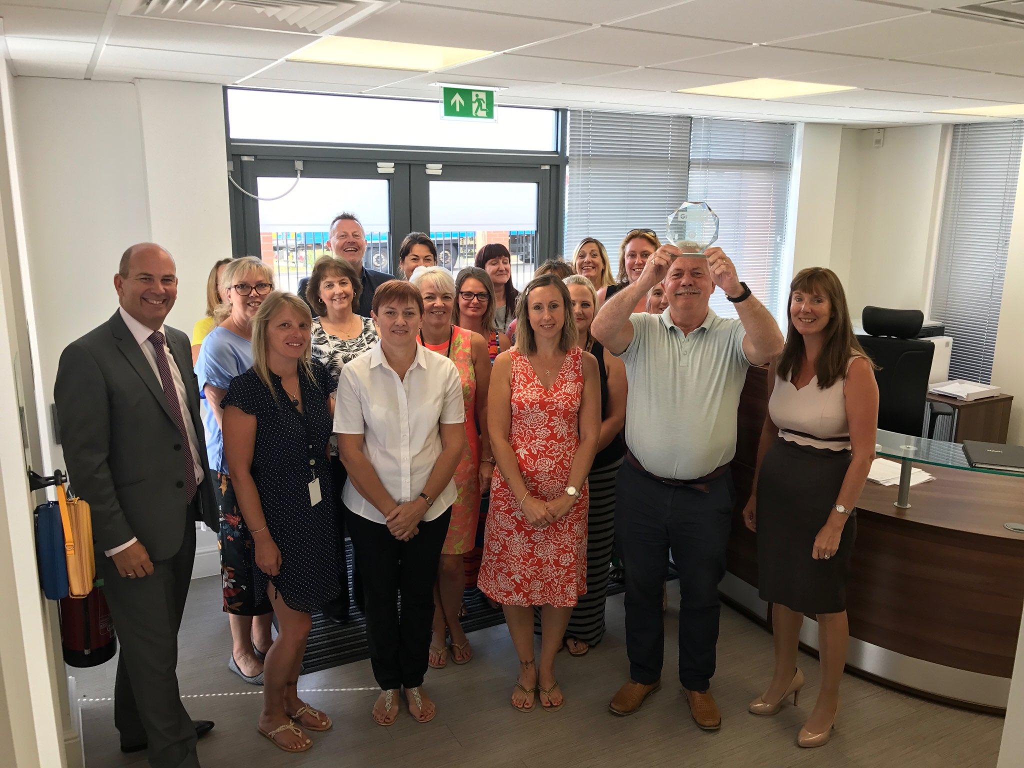 The Lakes Bathrooms Team celebrating their award win